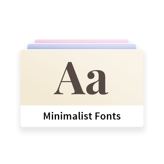 Minimalist WordPress Theme - Unlimited Fonts